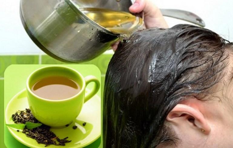 te verde para aclarar el cabello