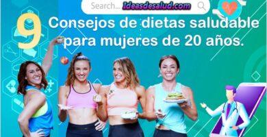 9 consejos de dietas saludable para mujeres de 20 años