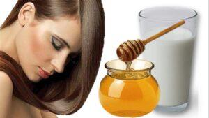 Mascarilla de leche y miel para el cabello
