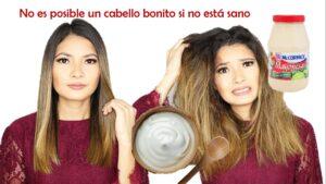 Mascarilla de mayonesa para el cabello seco y maltratado