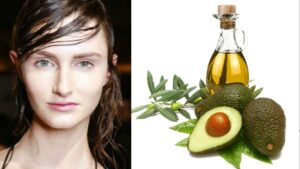 Mascarilla con aguacate y aceite de oliva para el cabello graso