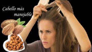 Mascarilla de almendras contra el encrespamiento para el cabello seco