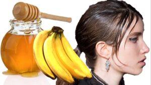 Mascarilla de cambur y miel de abejas para el cabello graso