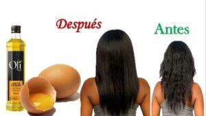 Mascarilla de huevo y aceite