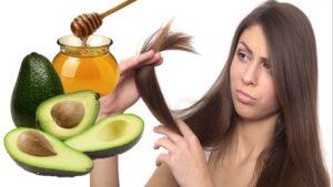Mascarilla de miel con aguacate para el cabello con puntas abiertas u horquetillas