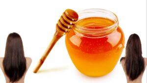 Mascarilla de miel para el cabello enredado