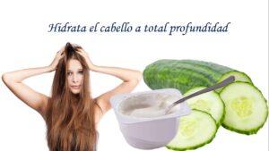 Mascarilla para el cabello encrespado con Yogurt natural y pepino