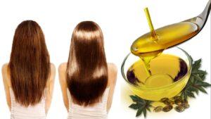 Mascarillas para el cabello enredado con Aceite de ricino
